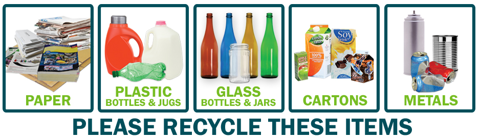 Acceptable items for recycling