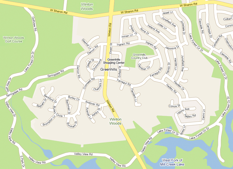 Greenhills Map